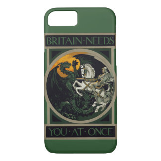 Britain Needs You At Once Knight & Dragon iPhone 7 Case