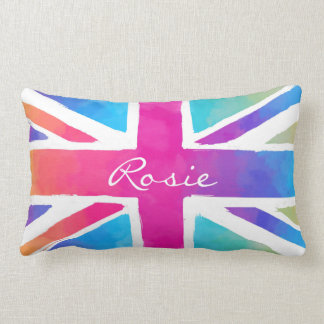Britain Patriotism British Flag Tie Dye Lumbar Cushion