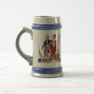 Britannia and Uncle Sam Beer Stein