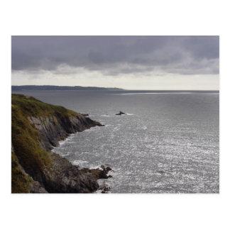 Britanny coast after storm. postcard