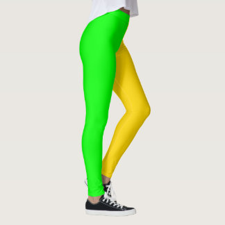 Brite Green and Yellow-Gold Bold Leggings