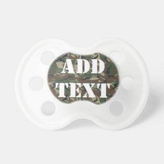 British 95 Forest Green Camouflage Baby Pacifiers