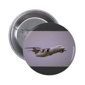 British Aerospace 146 Whisperjet taking off Biggi Button