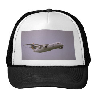 British Aerospace 146 Whisperjet taking off, Biggi Hat