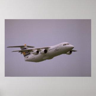 British Aerospace 146 Whisperjet taking off Biggi Posters
