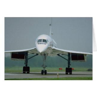 British Airways Concorde, on taxi way Card