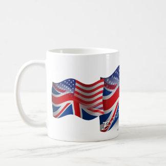 British-American Waving Flag Basic White Mug