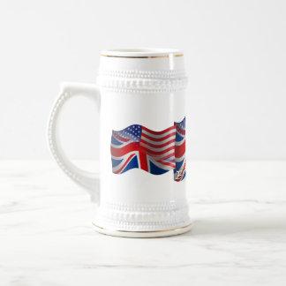 British-American Waving Flag Beer Steins
