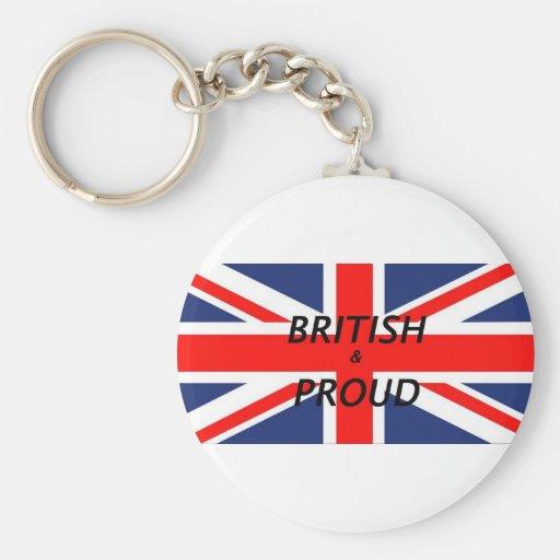 British and proud keychain