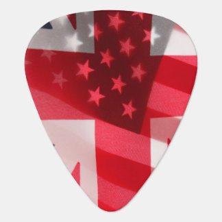 British and USA flags Plectrum
