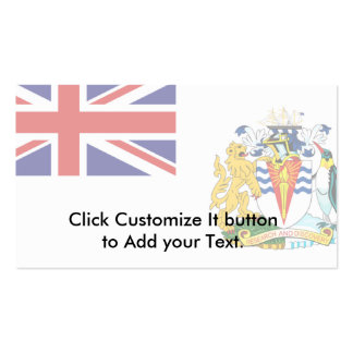 British Antarctic Territory, Antarctica flag Business Card Template