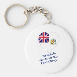 British Antarctic Territory Flag Heart Keychain