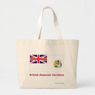 British Antarctic Territory Flag with Name Jumbo Tote Bag