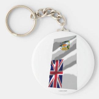 British Antarctic Territory Waving Flag Keychain