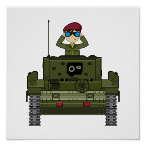 British Army Soldier in Tank Print