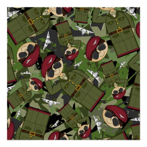 British Army Soldier Poster Print