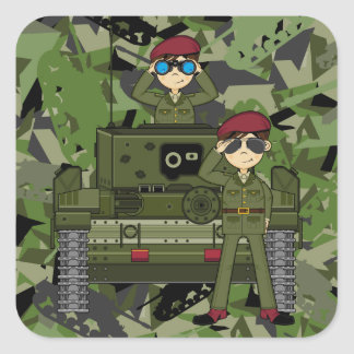 British Army Soldiers and Tank Sticker