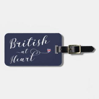 British At Heart Luggage Tag Template, UK