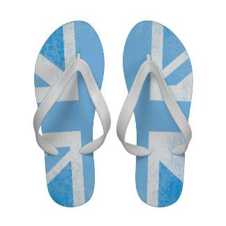 British baby blue patterned sandal thong flip flops