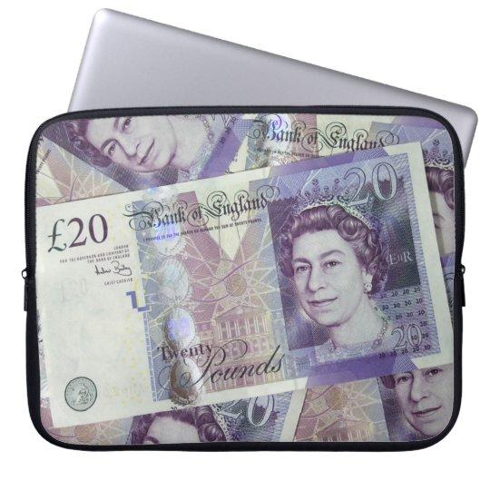 British Bank Note Laptop Sleeve