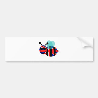 british bee bumper sticker
