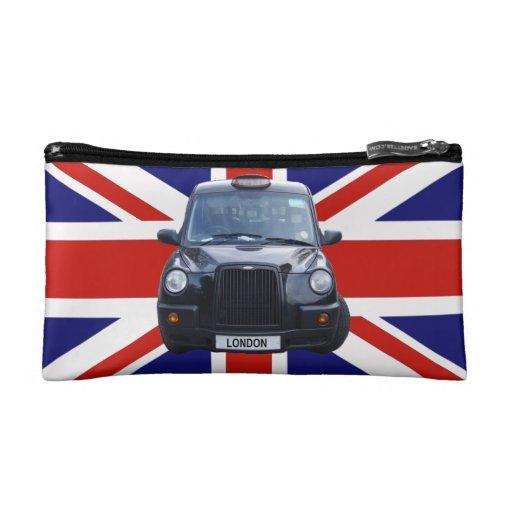 British Black Taxi Cab Makeup Bag