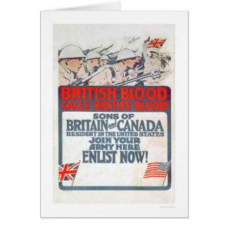 British Blood calls British Blood! (US02107) Greeting Card