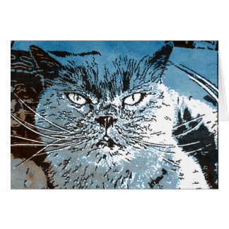 British Blue Greeting Card