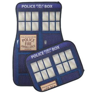 British Blue vintage Police Box Car Mat