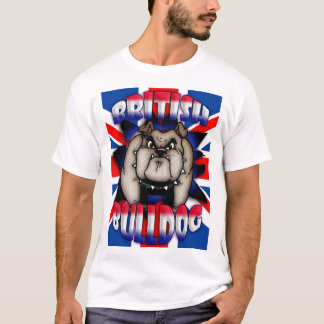 British, British Bulldog T Shirt with union Jack