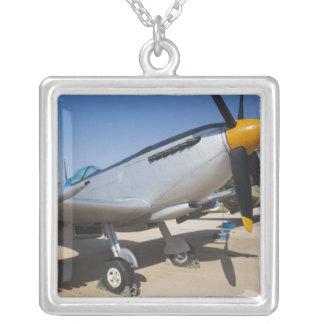 British-built Spitfire fighter Square Pendant Necklace