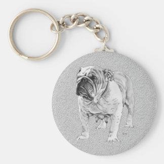 British Bulldog Basic Round Button Key Ring