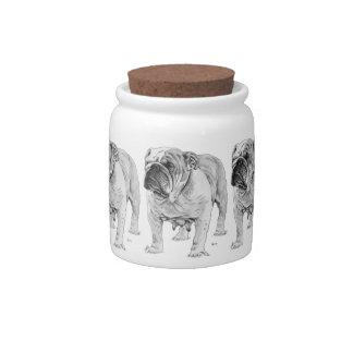 British Bulldog Candy Jar