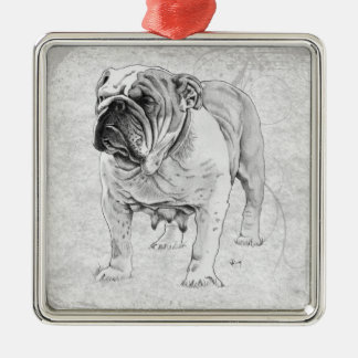 British Bulldog Christmas Ornament