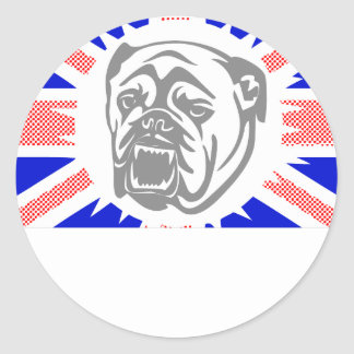 British Bulldog Classic Round Sticker