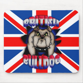 British Bulldog Mousemat Mousepad, Union Jack