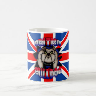 British Bulldog Mug, With Union Jack Basic White Mug
