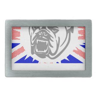 British Bulldog Rectangular Belt Buckle