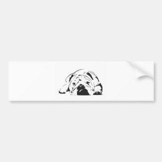 British Bulldog Stencil Bumper Sticker