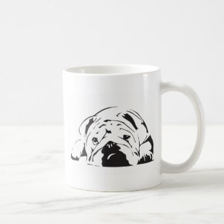 British Bulldog Stencil Coffee Mug
