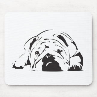British Bulldog Stencil Mouse Pad
