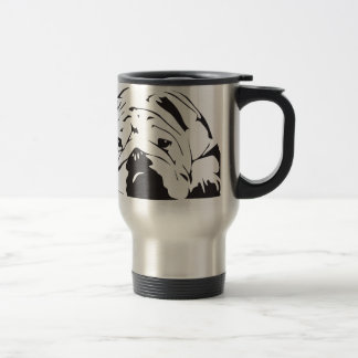 British Bulldog Stencil Travel Mug