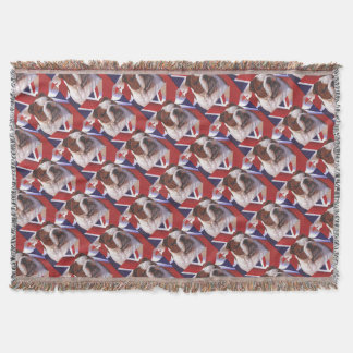 BRITISH BULLDOG THROW BLANKET