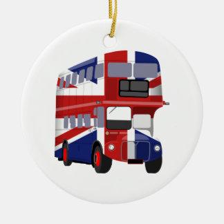 British Bus Ceramic Ornament