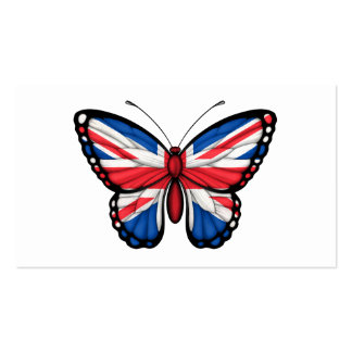 British Butterfly Flag Business Cards