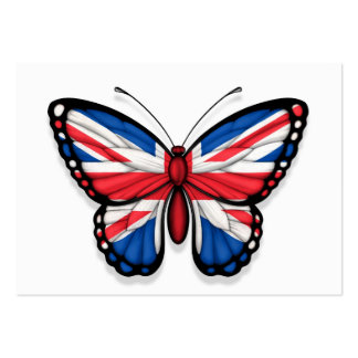 British Butterfly Flag Business Card Templates