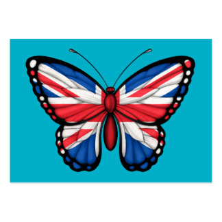 British Butterfly Flag Business Card Template