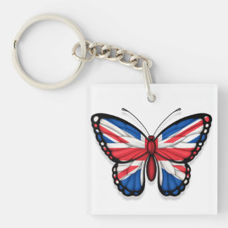 British Butterfly Flag Key Chains