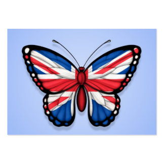 British Butterfly Flag on Blue Business Cards