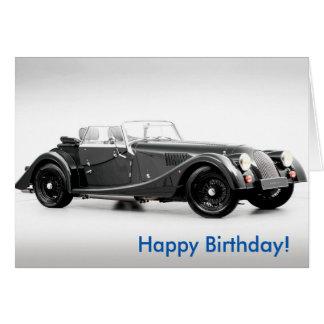 British car image for Birthday greeting card